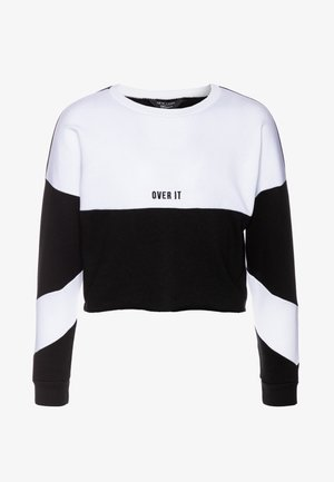 COLOUR BLOCK - Sweater - black
