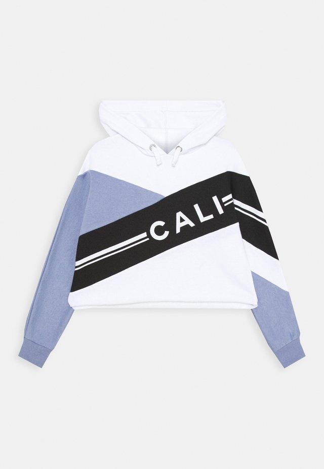 CALI DIAGONAL BLOCK HOODY - Hættetrøjer - mid blue