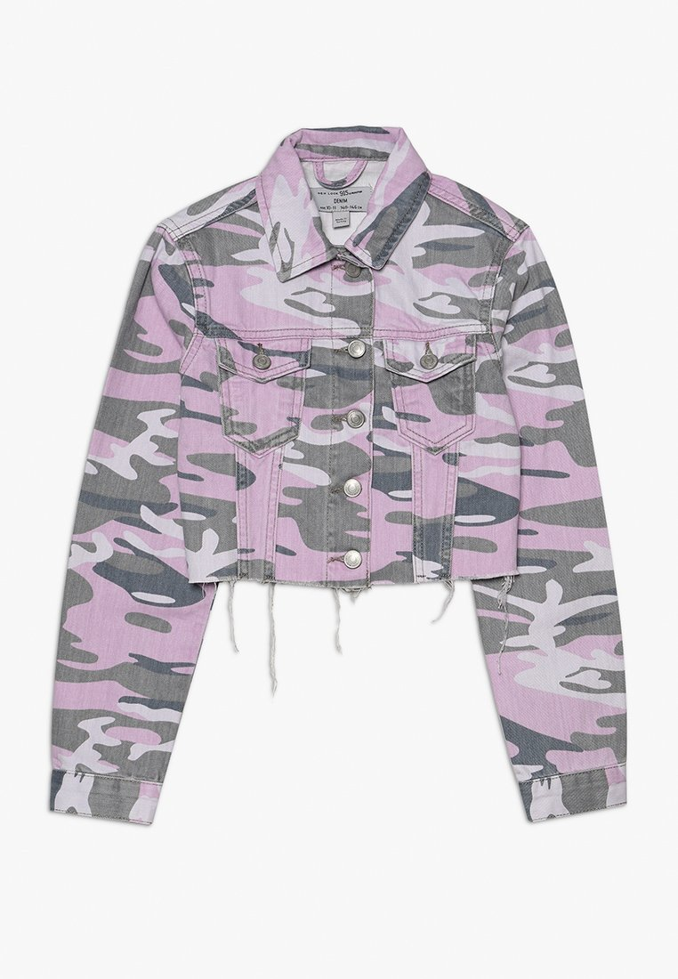 New Look 915 Generation - CAMO JACKET - Chaqueta vaquera - purple
