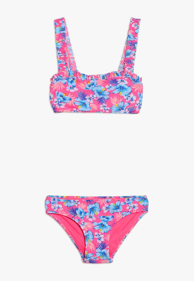 HAWAIIAN FRILL CROP SET - Bikini - pink