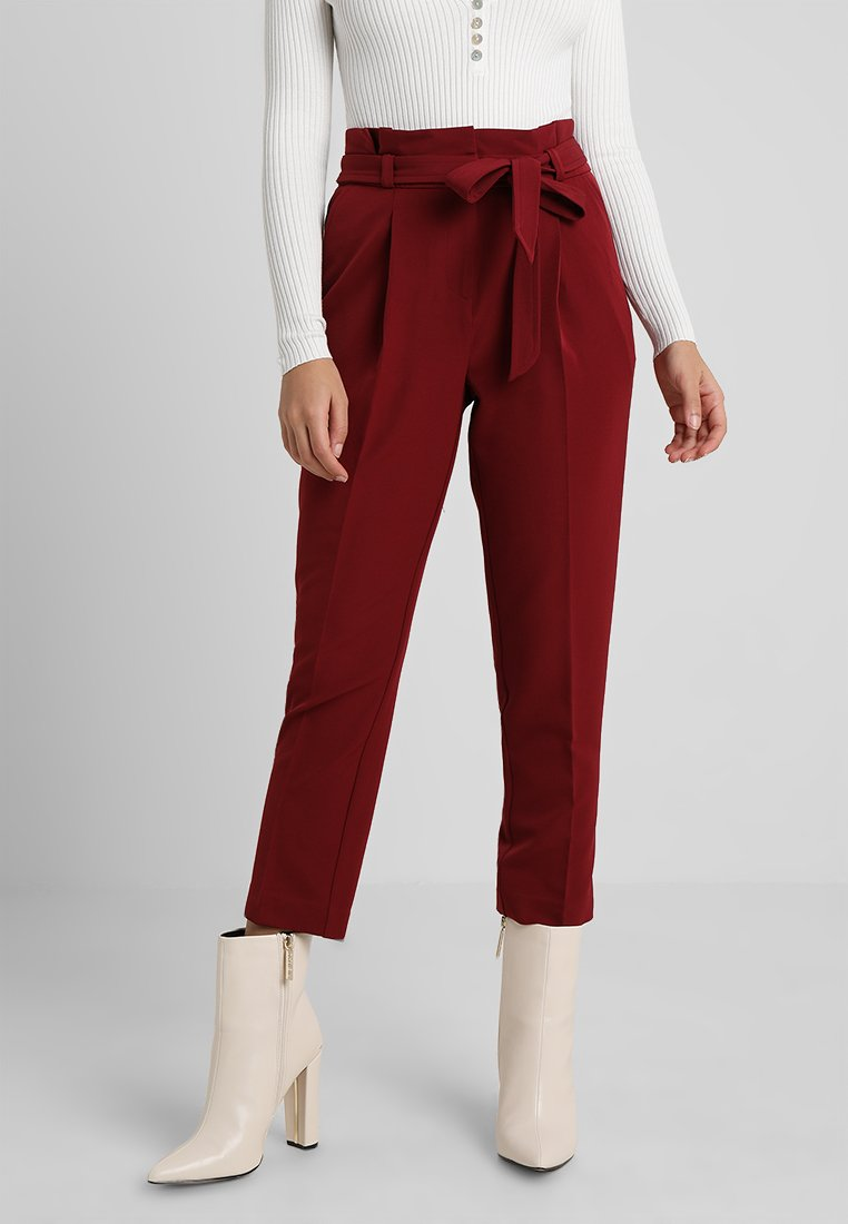 New Look Petite - MILLAR TROUSER - Kangashousut - burgundy