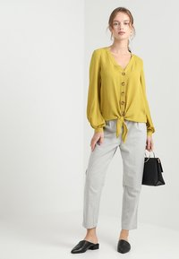 New Look Petite - LOOK PULL ON TROUSERS - Trousers - mid grey - 1