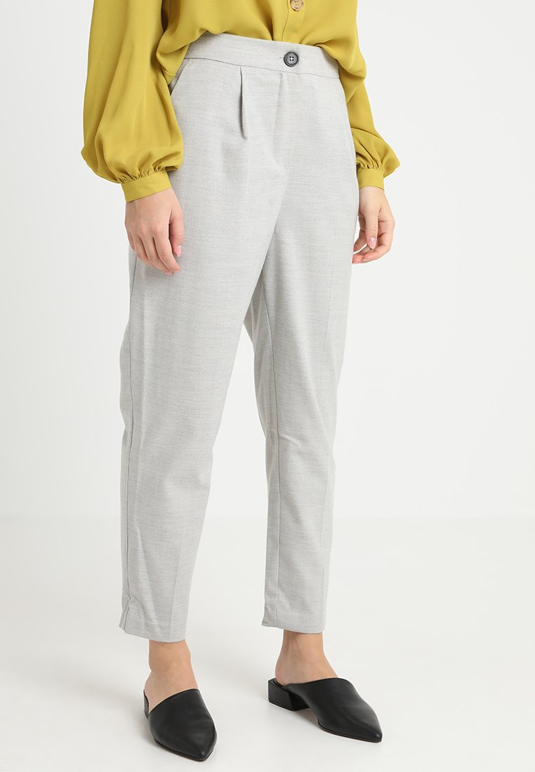 New Look Petite - LOOK PULL ON TROUSERS - Trousers - mid grey