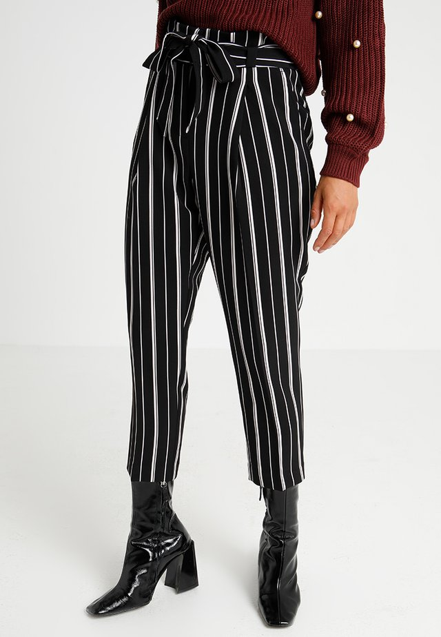 MILLAR STRIPE TROUSER - Trousers - black