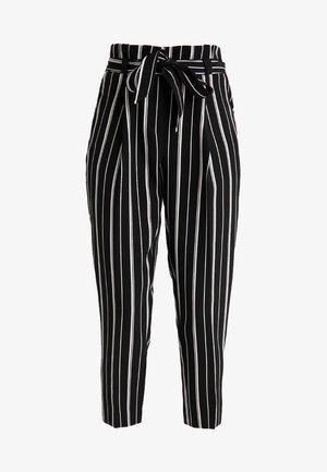 MILLAR STRIPE TROUSER - Trousers - black