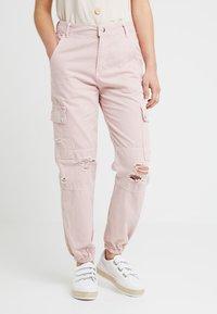 New Look Petite - MALIBU DESTROYED - Bukse - light pink - 0