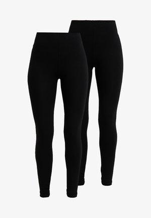 2 PACK - Leggings - Trousers - black