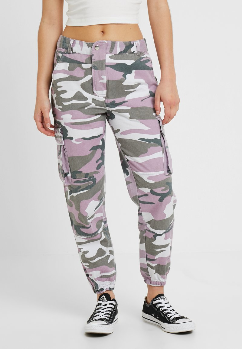 New Look Petite - CAMO - Trousers - purple