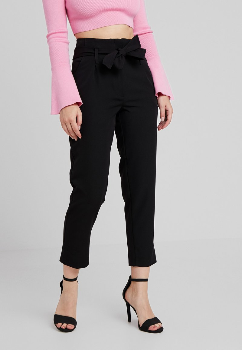 New Look Petite - VICKY TIE WAIST TROUSER - Trousers - black