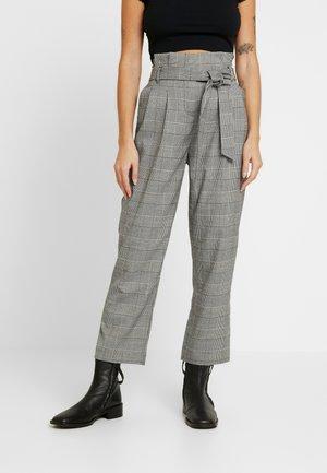 POW CHECK TROUSER - Spodnie materiałowe - black