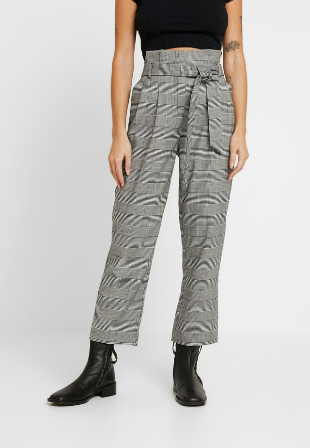 POW CHECK TROUSER - Trousers - black
