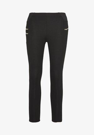 BIKER ZIP - Leggings - Trousers - black