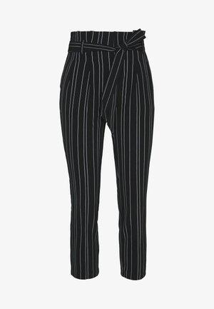 STRIPE MILLER WASIT  - Trousers - black