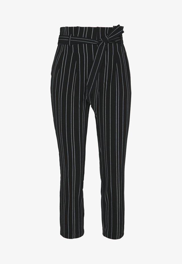 STRIPE MILLER WASIT  - Pantalon classique - black
