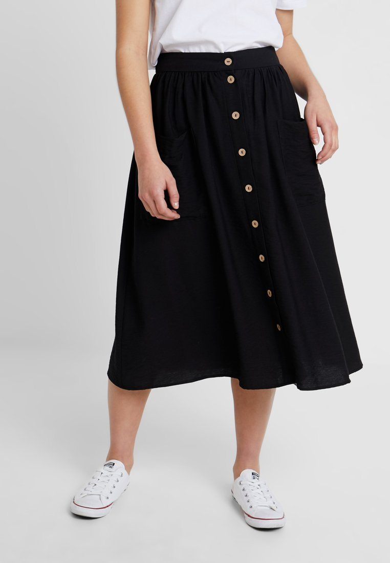 New Look Petite - MIDI SKIRT - A-line skirt - black