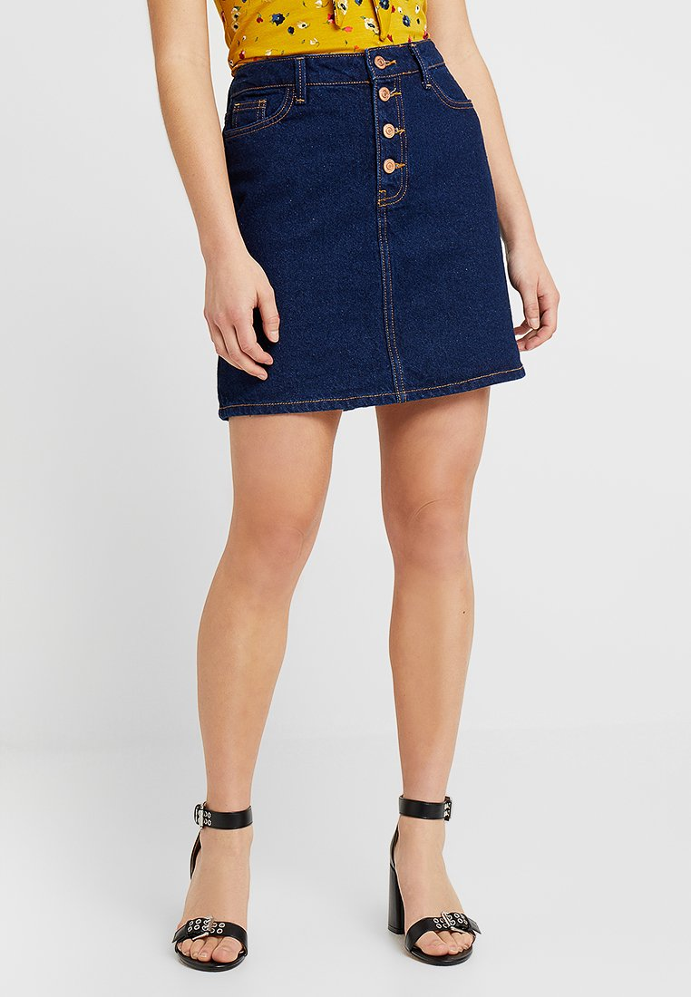 New Look Petite - PLACKET SKIRT - A-snit nederdel/ A-formede nederdele - dark blue