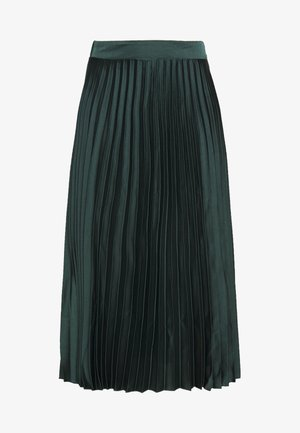 PLEAT MID SKIRT - Gonna a campana - green