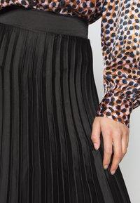 New Look Petite - PLEAT MID SKIRT - A-line skirt - black - 4