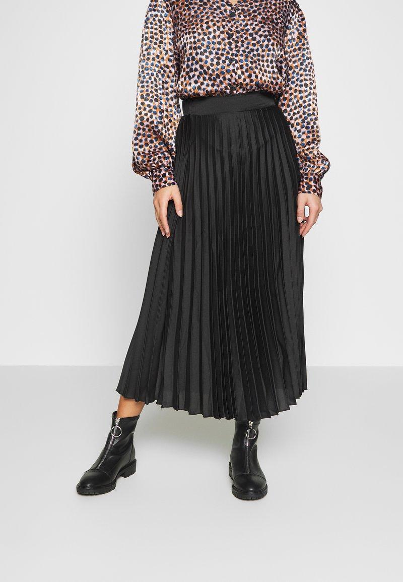 New Look Petite - PLEAT MID SKIRT - A-line skirt - black