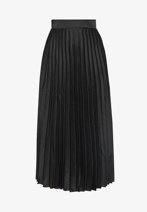 PLEAT MID SKIRT - A-line skirt - black