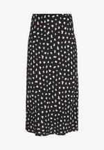 NELLY SPOT MIDI SKIRT - A-line skirt - black