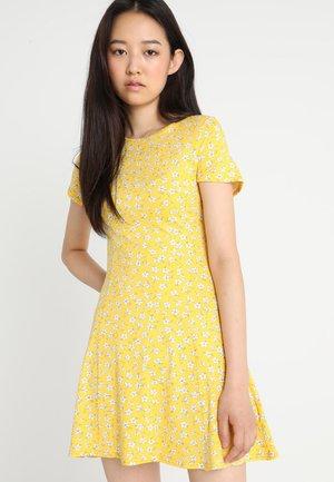 PRINT CAP SLEEVE SWING DRESS - Robe en jersey - yellow