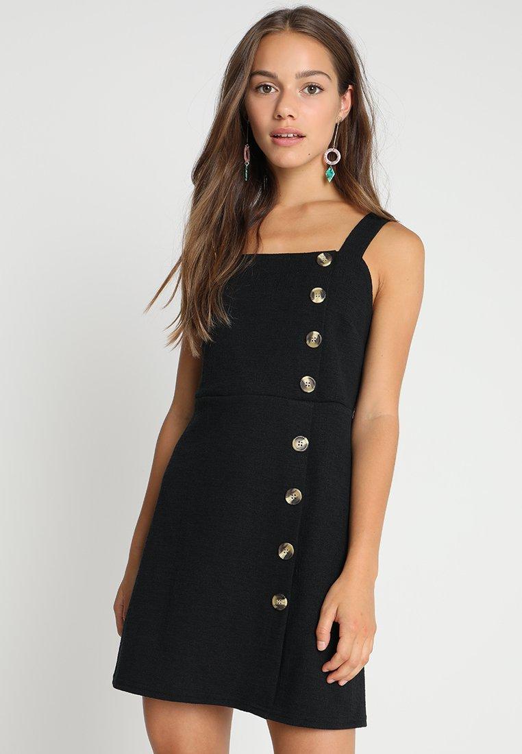 New Look Petite - CROSS SIDE PINNY - Jersey dress - black