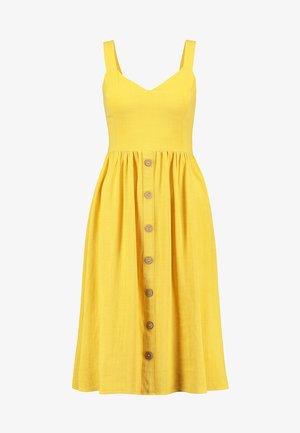 BURMUDA FRONT MIDI - Denní šaty - bright yellow