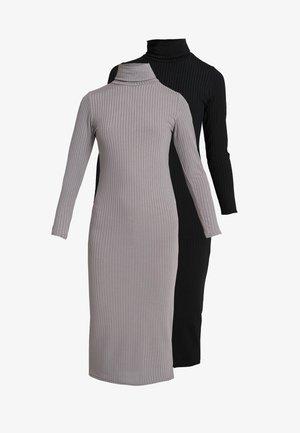 FLAT CARLY DRESS 2 PACK - Strikket kjole - black/grey