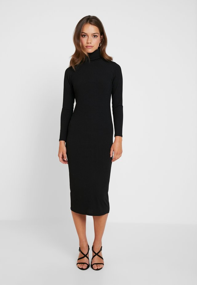 FLAT CARLY DRESS 2 PACK - Strickkleid - black/grey