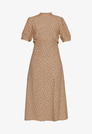 PRINT SPLIT MIDI DRESS - Vestido informal - brown