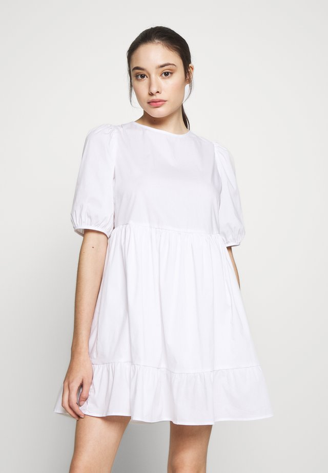 SMOCK DRESS - Day dress - white