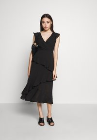 New Look Petite - YORU FRONT FRILL MIDI - Cocktail dress / Party dress - black - 1