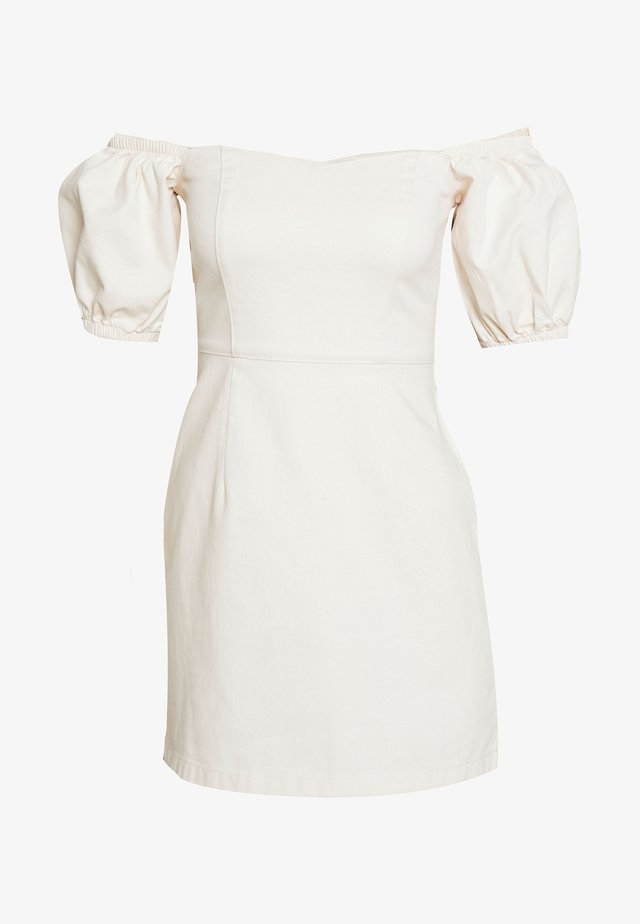 PUFF DRESS JLO - Sukienka letnia - offwhite