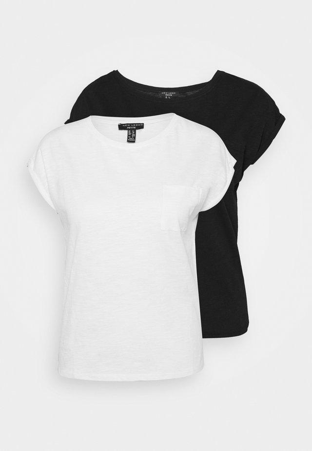 SLUB 2 PACK - T-shirt basic - black