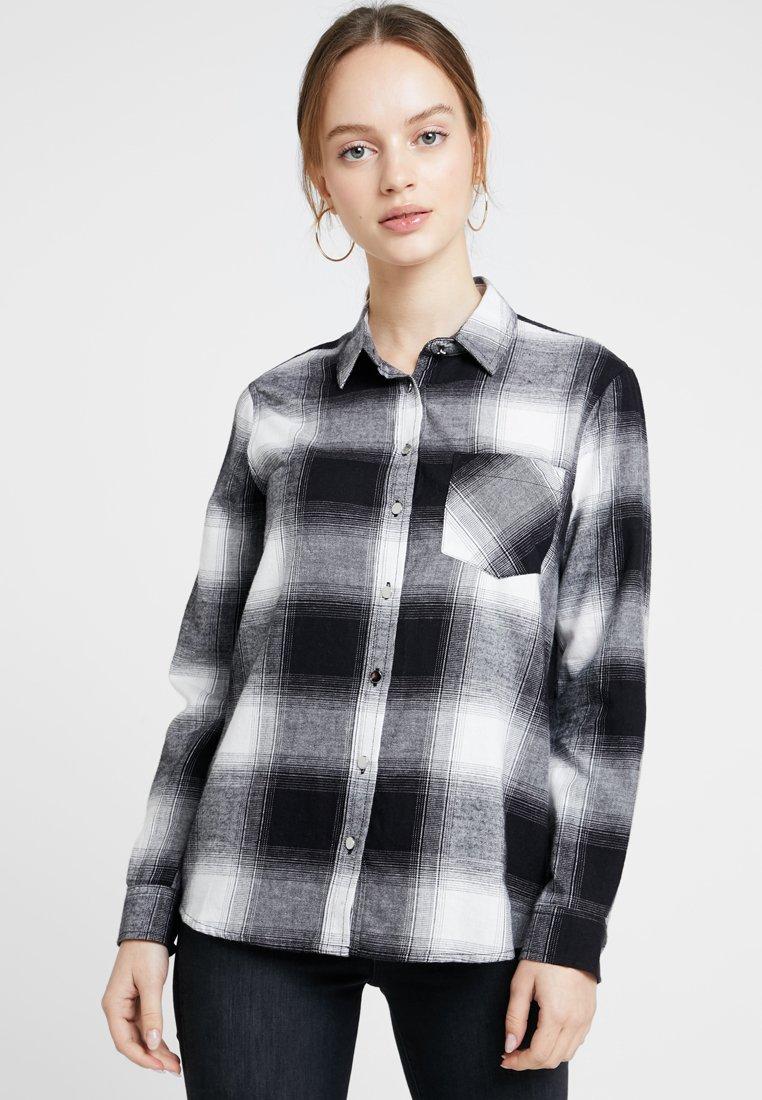 New Look Petite - MARTHA MONO CHECK - Koszula - black