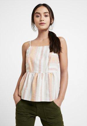 STRIPE HIGH NECK CAMI - Top - white pattern