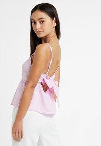 New Look Petite - LINA PLAIN HIGH NECK CAMI - Blus - bright pink - 2