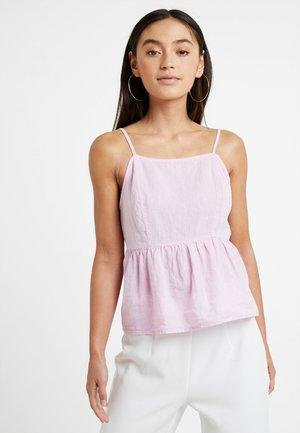 LINA PLAIN HIGH NECK CAMI - Blouse - bright pink