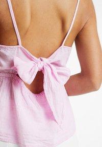 New Look Petite - LINA PLAIN HIGH NECK CAMI - Blus - bright pink - 5