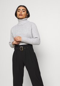 New Look Petite - CROPPED ROLL NECK - Sweter - light grey - 0
