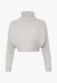 New Look Petite - CROPPED ROLL NECK - Sweter - light grey - 4