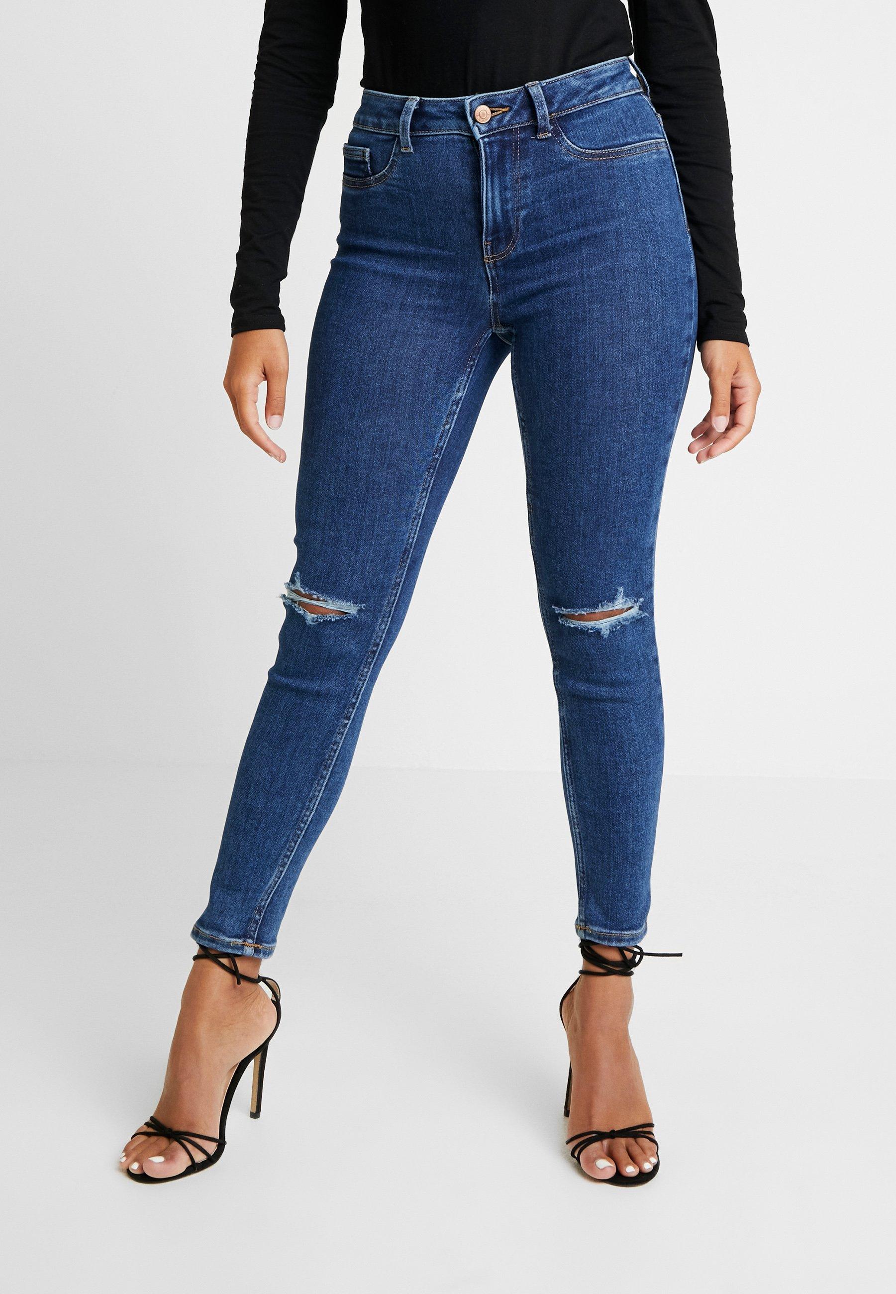 New Look Petite HALLIE RIP DISCO - Jeans Skinny Fit mid blue