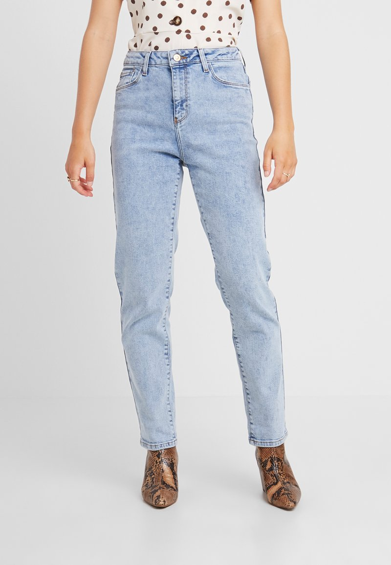New Look Petite - WAIST ENHANCE MOM - Jeans Relaxed Fit - mid blue