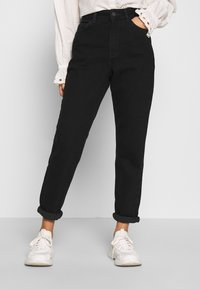 New Look Petite - WAIST ENHANCE MOM - Jeans relaxed fit - black - 0