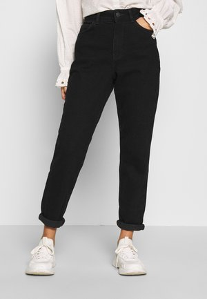 WAIST ENHANCE MOM - Jeans relaxed fit - black