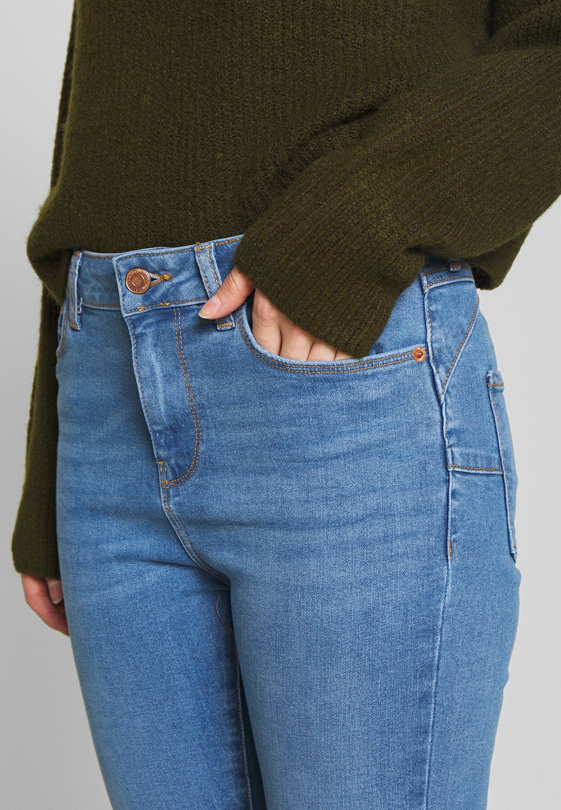 New Look Petite Lift And Shaper Jean - Jeans Skinny Fit Mid Blue