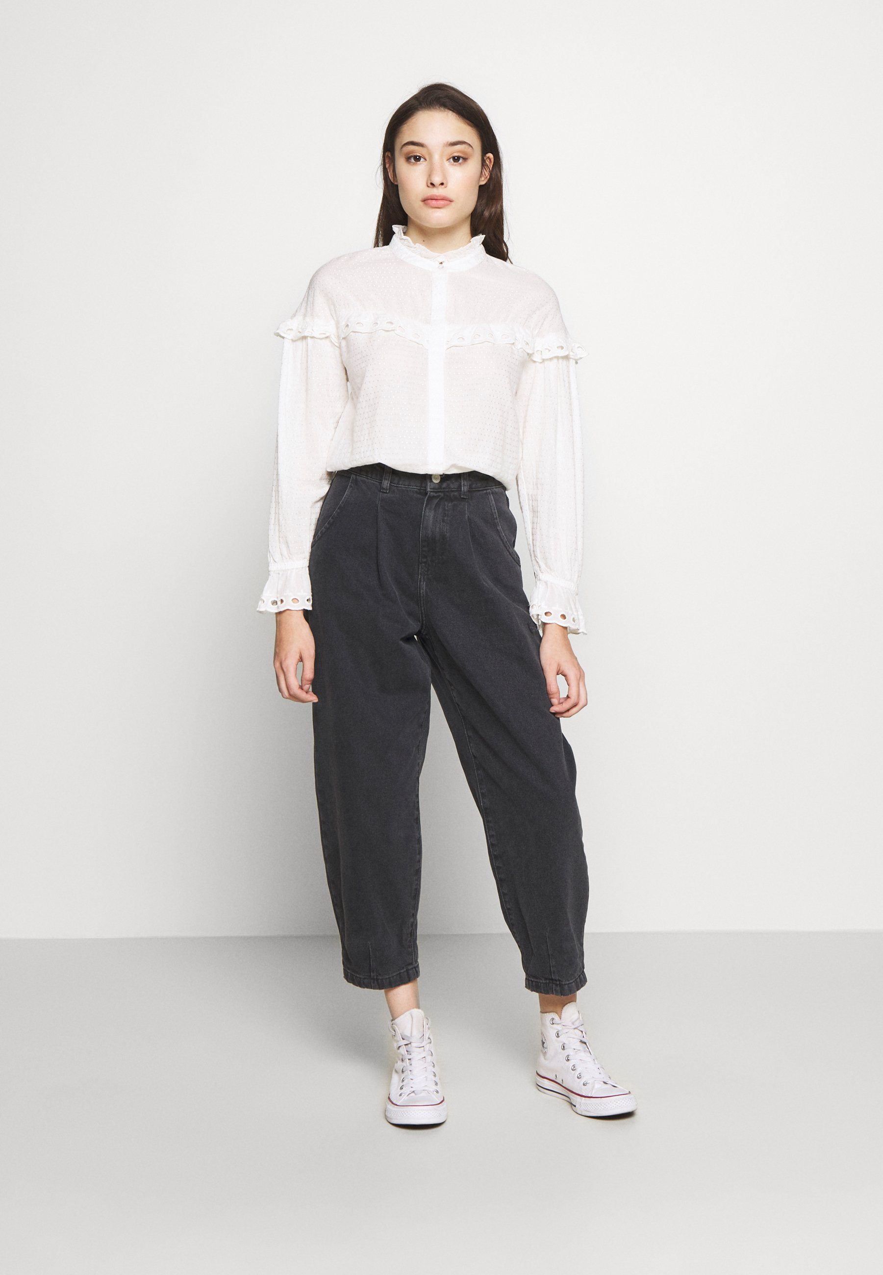 New Look Petite Betty Barrell Ballon Leg United - Jeans Relaxed Fit Black