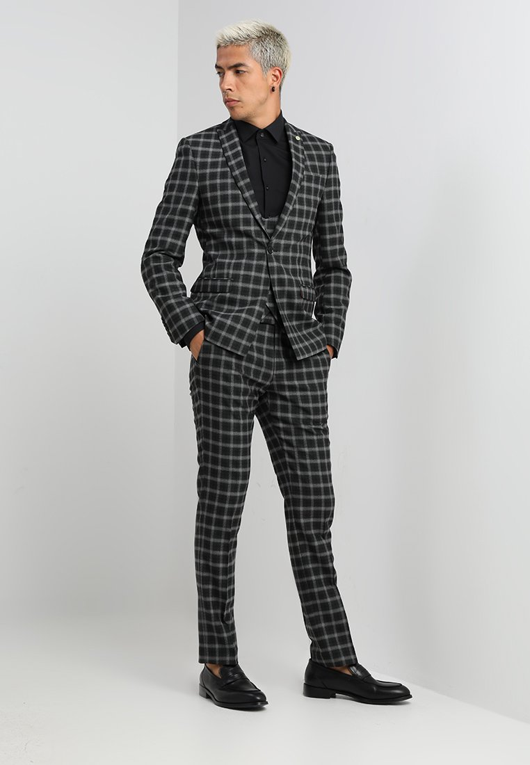 Twisted Tailor - MUTA CHECK SUIT - Suit - grey
