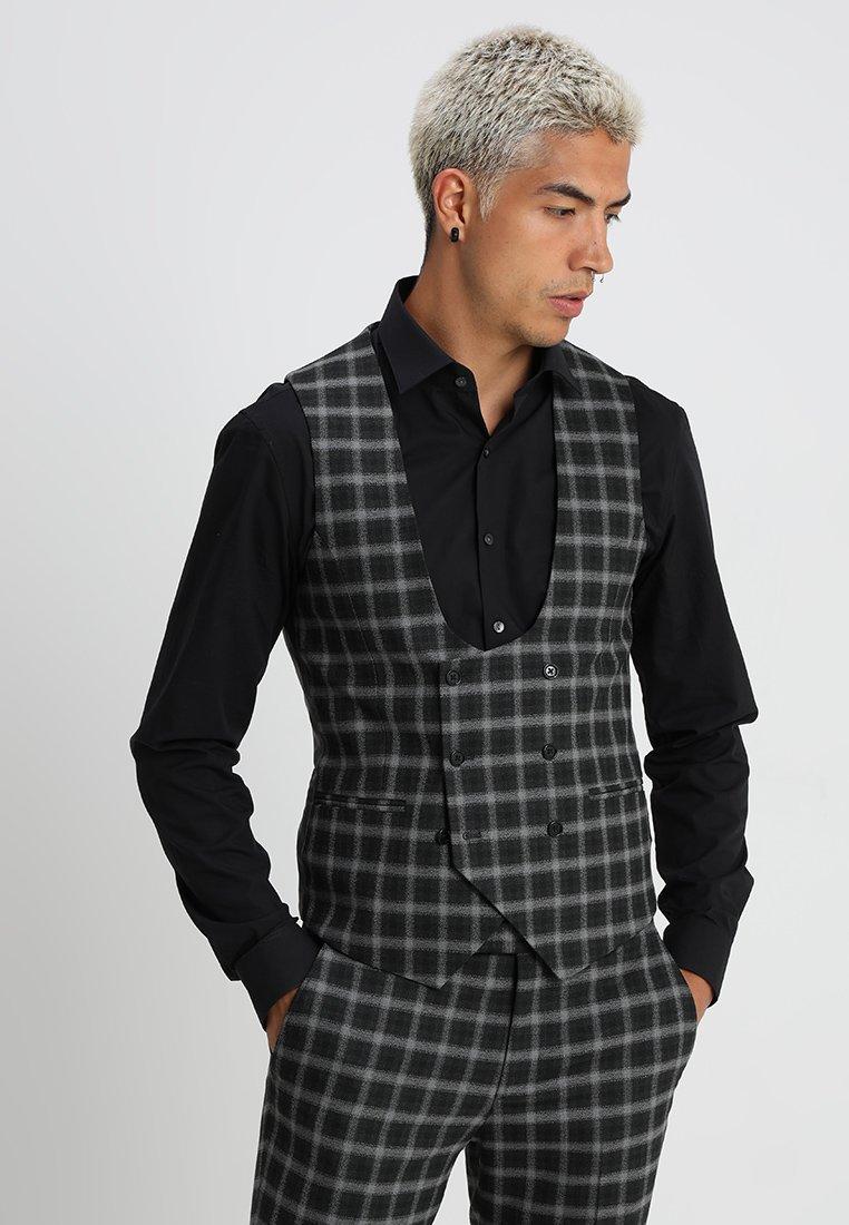 Twisted Tailor - MUTA CHECK  - Waistcoat - grey